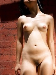 Cute exotic amateur shows hairy pussy