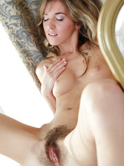 Gorgeous hairy petite blonde Sofy